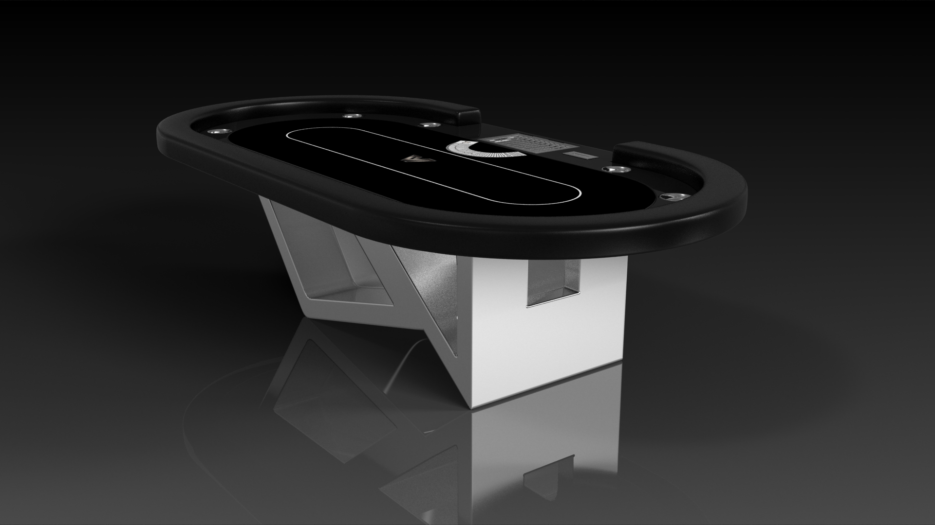 Rumba Brushed Aluminum Poker