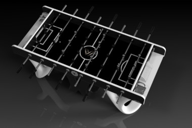 Draco Black and White Foosball