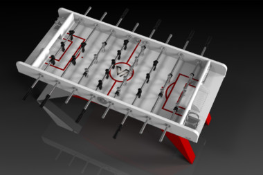 Mantis Red and Chrome Foosball