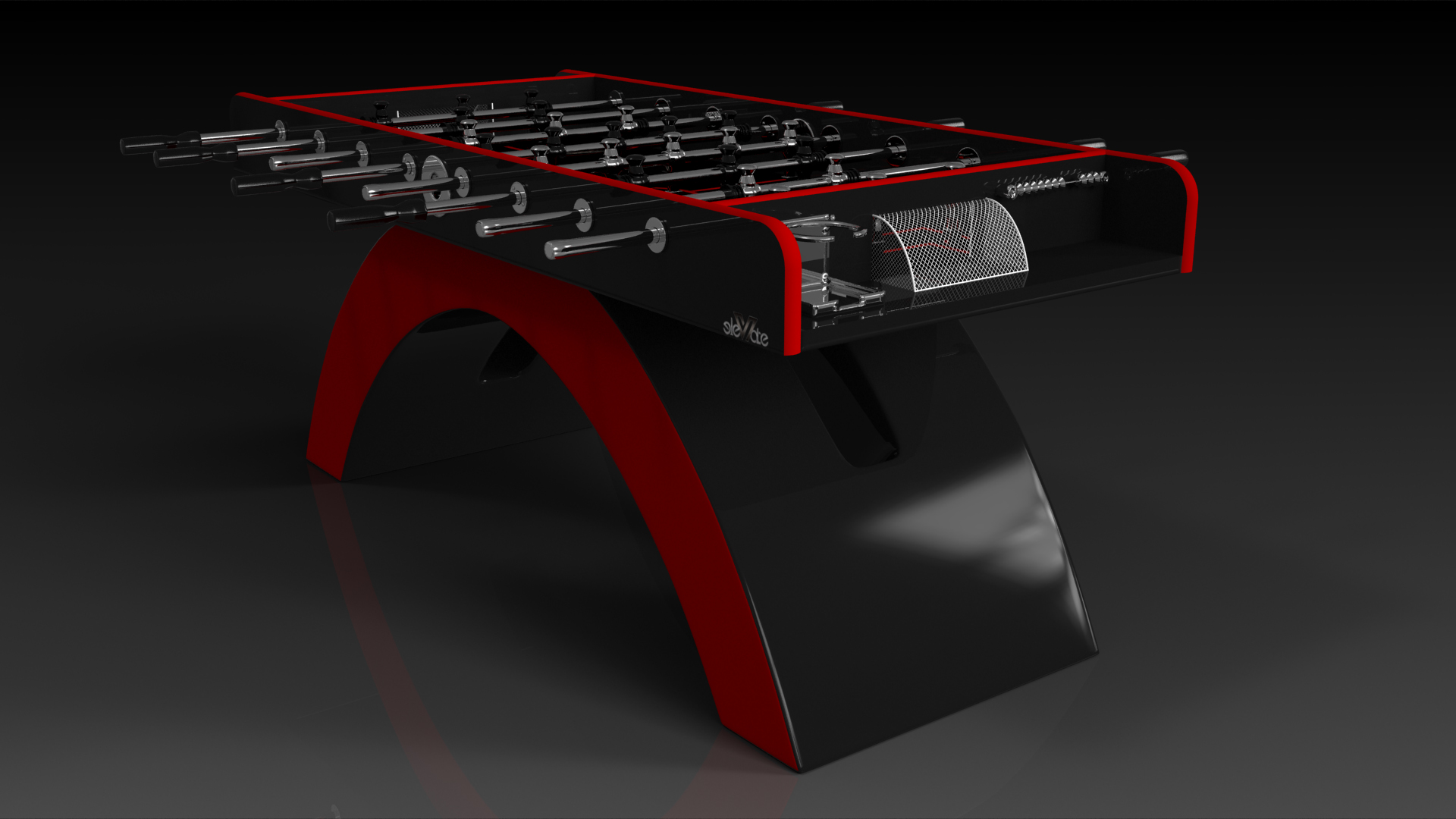 Zenith Red and Black Foosball