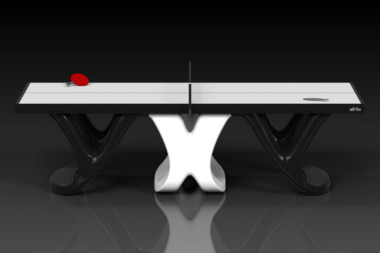 Elevate customs modern design draco Ping Pong Table tennis black and white 2