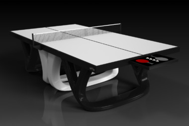 Elevate customs modern design draco Ping Pong Table tennis black and white 1