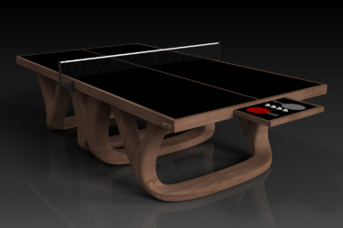 Elevate customs modern design draco Ping Pong Table tennis walnut 1
