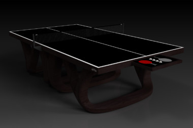 Elevate customs modern design draco Ping Pong Table tennis espresso 1