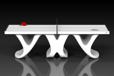 Elevate customs modern design draco Ping Pong Table tennis white 2