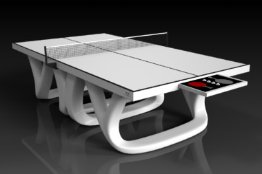 Elevate customs modern design draco Ping Pong Table tennis white 1