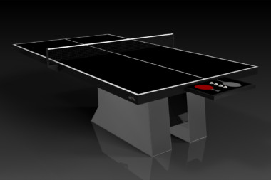Stilt Chrome and Black Table Tennis