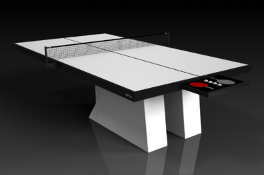 Stilt White and Black Table Tennis
