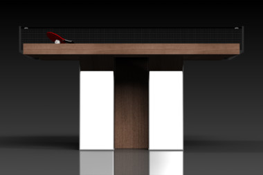 Elevate Customs modern design stilt Ping Pong Table tennis walnut 3