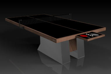 Elevate Customs modern design stilt Ping Pong Table tennis walnut 1