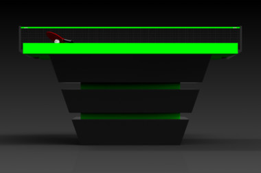 Elevate customs modern design louve Ping Pong Table tennis black and neon green 3