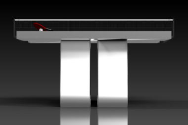 Elevate Customs Modern design Luge Ping Pong Table tennis brushed aluminum 3