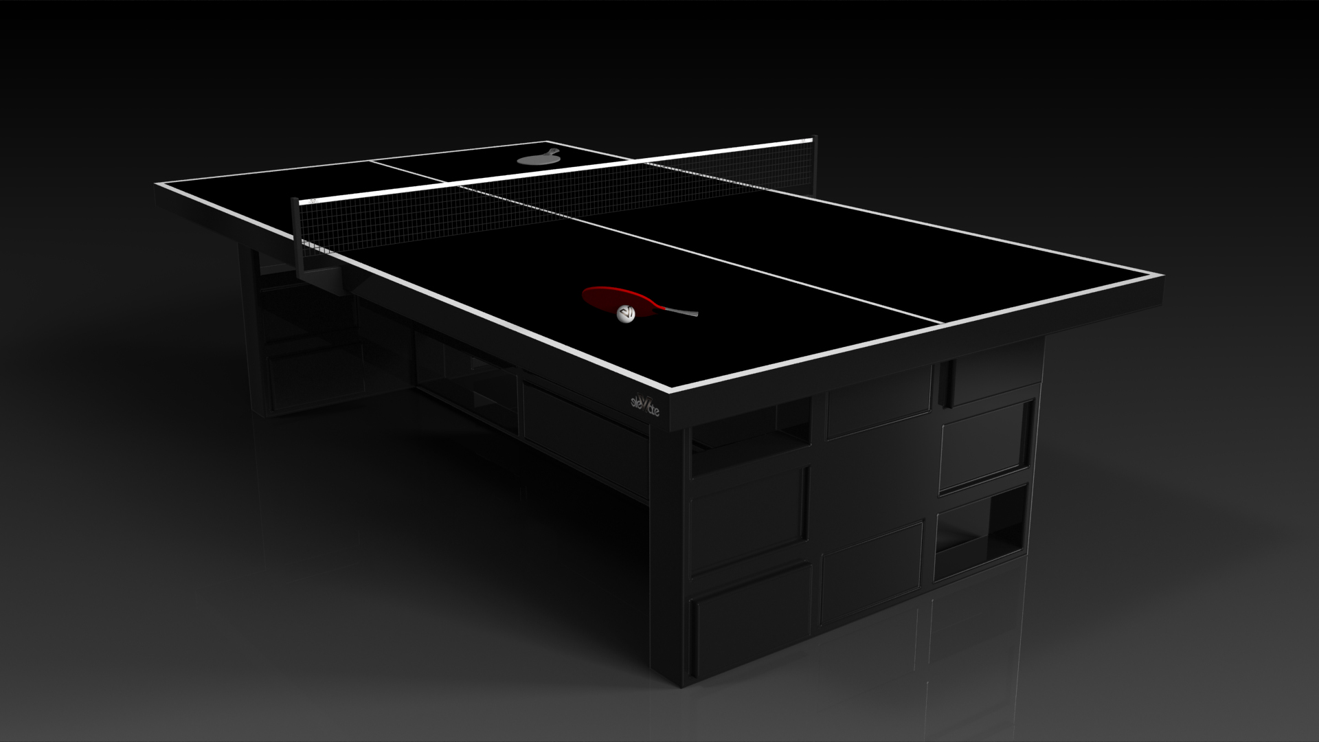 Elevate Customs modern design quota Ping Pong Table tennis black 4