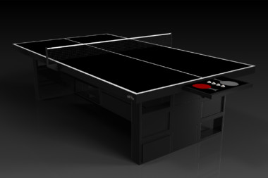 Elevate Customs modern design quota Ping Pong Table tennis black 1