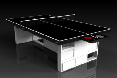 Elevate Customs modern design quote Ping Pong Table tennis white 1