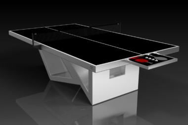 Elevate Customs modern design rumba Ping Pong Table tennis brushed aluminum 1