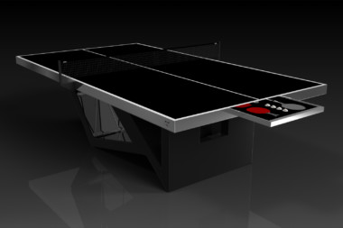 Elevate Customs modern design rumba Ping Pong Table tennis black 1