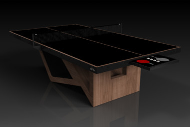 Elevate Customs modern design rumba Ping Pong Table tennis walnut 2