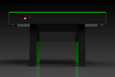 Elevate Customs Modern design Mantis Ping Pong Table tennis black and neon green 3