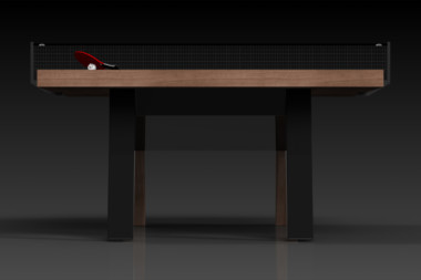 Elevate Customs Modern design Mantis Ping Pong Table tennis walnut 3
