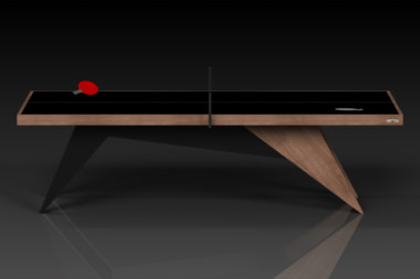 Elevate Customs Modern design Mantis Ping Pong Table tennis walnut 2