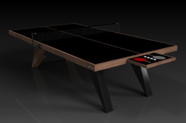 Elevate Customs Modern design Mantis Ping Pong Table tennis walnut 1