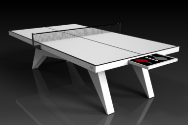 Elevate Customs Modern design Mantis Ping Pong Table tennis white 1