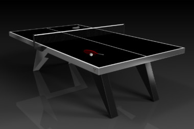 Elevate Customs Modern design Mantis Ping Pong Table tennis black 3
