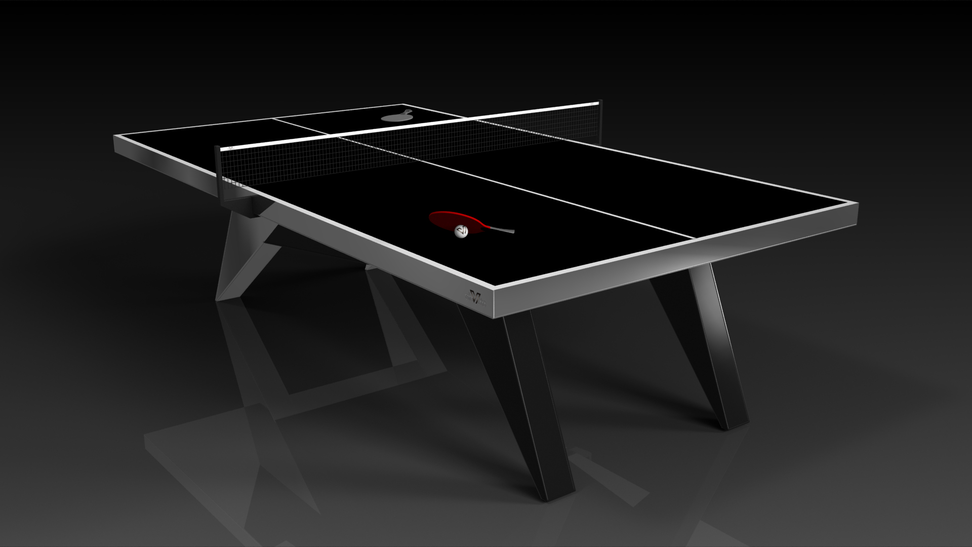 Good Elevate Customs Modern Design Mantis Ping Pong Table Tennis Black 3