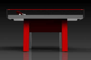 Elevate Customs Modern design Mantis Ping Pong Table tennis red 3