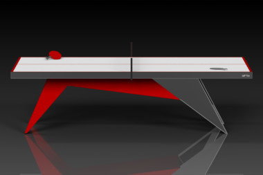 Elevate Customs Modern design Mantis Ping Pong Table tennis red 2
