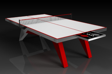 Elevate Customs Modern design Mantis Ping Pong Table tennis red 1