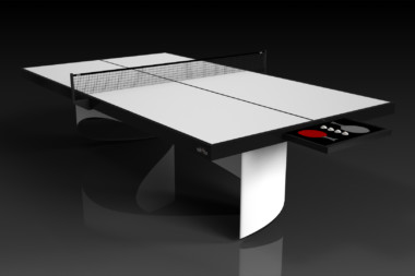 Elevate customs modern design ellipse Ping Pong Table tennis white 1