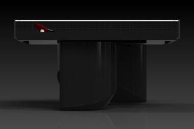 Elevate customs modern design ellipse Ping Pong Table tennis black 3