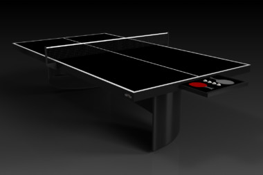 Elevate customs modern design ellipse Ping Pong Table tennis black 1