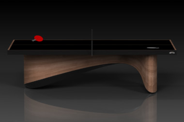 Elevate customs modern design ellipse Ping Pong Table tennis walnut 2