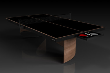 Elevate customs modern design ellipse Ping Pong Table tennis walnut 1