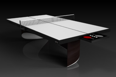Elevate customs modern design ellipse Ping Pong Table tennis espresso 1