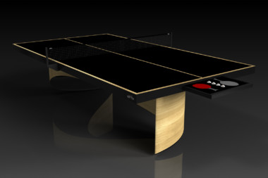 Elevate customs modern design ellipse Ping Pong Table tennis bamboo 2