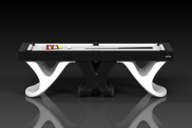 Elevate customs modern design draco pool table black and white 2