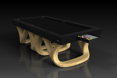 Elevate customs modern design draco pool table bamboo 1