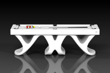 Elevate Customs modern design draco pool table white 2