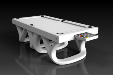Elevate Customs modern design draco pool table white 1