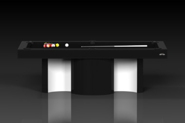 Elevate Customs modern design nexus pool table black 2