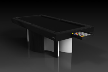Elevate Customs modern design nexus pool table black 1