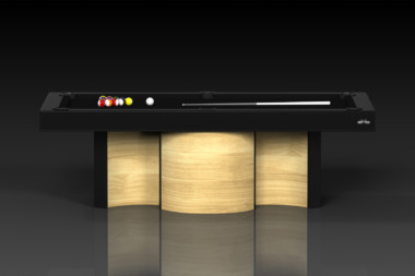 Elevate Customs modern design nexus pool table bamboo 2