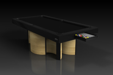Elevate Customs modern design nexus pool table bamboo 1