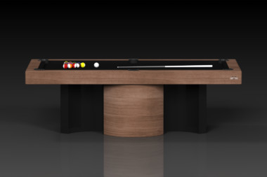 Elevate Customs modern design nexus pool table walnut 2