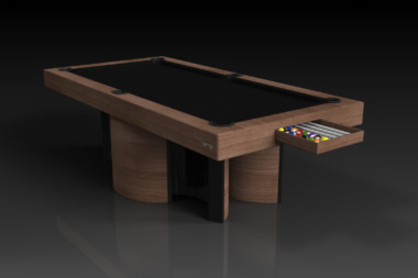Elevate Customs modern design nexus pool table walnut 1