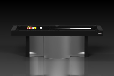 Elevate Customs modern design nexus pool table brushed aluminum 2